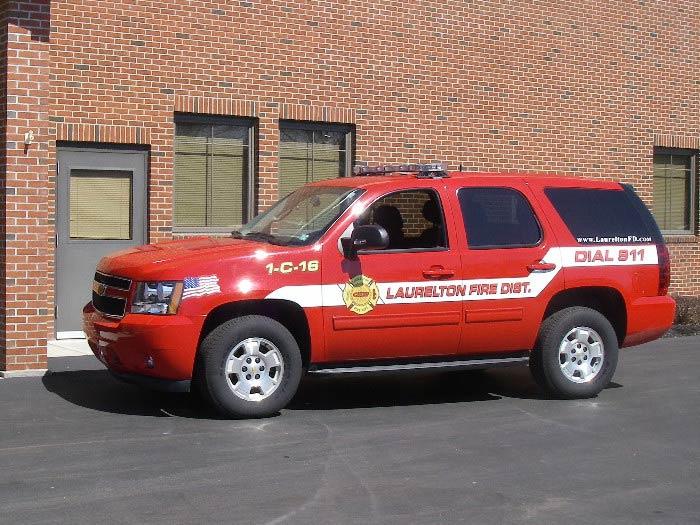 Laurelton Fire Department Chief's Blazer