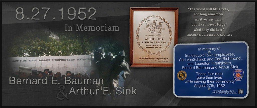 Laurelton Fire Department Bauman Sink Memorial